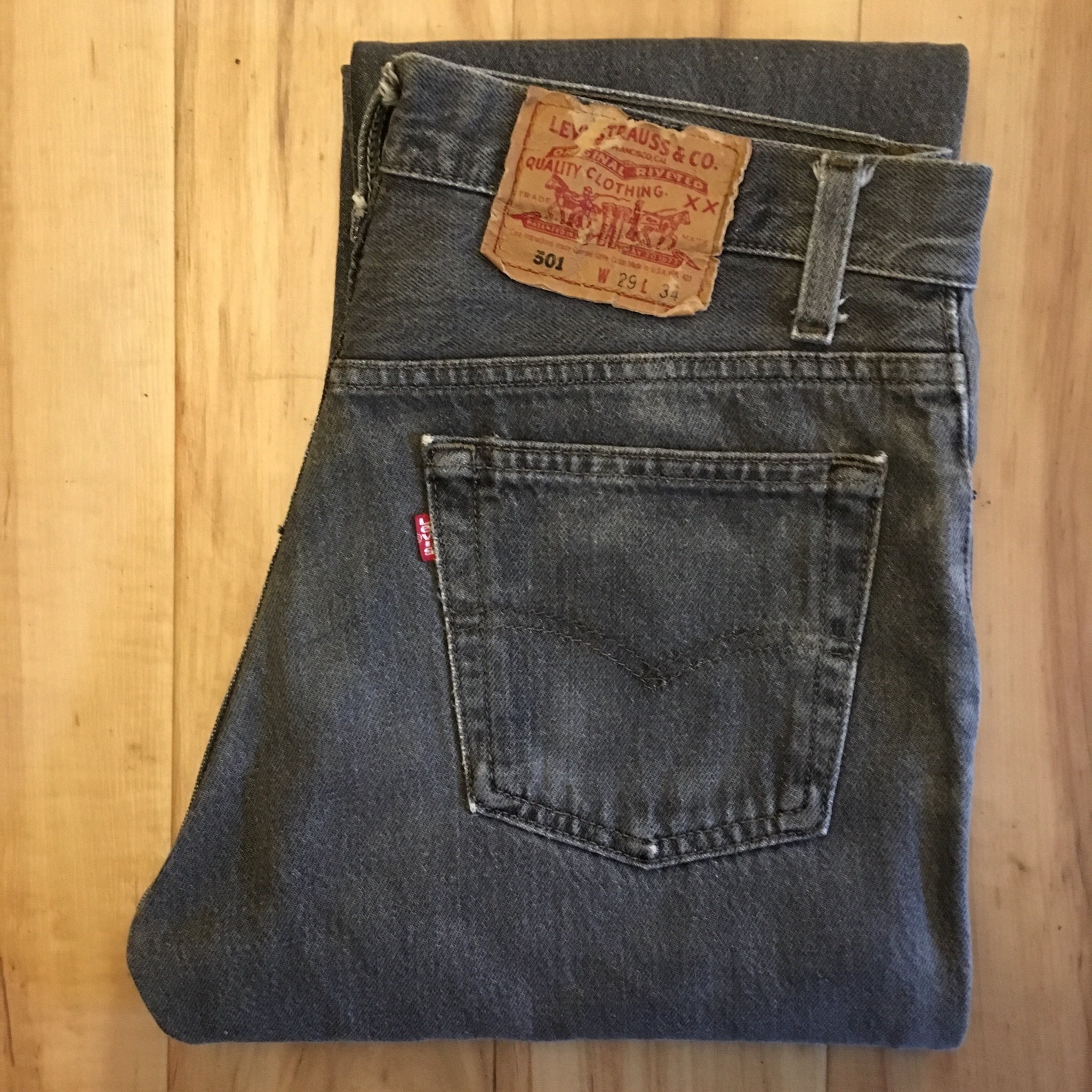 """Levi's 501  BLACK W29 inch """"MADE IN USA"""" <Used>"""
