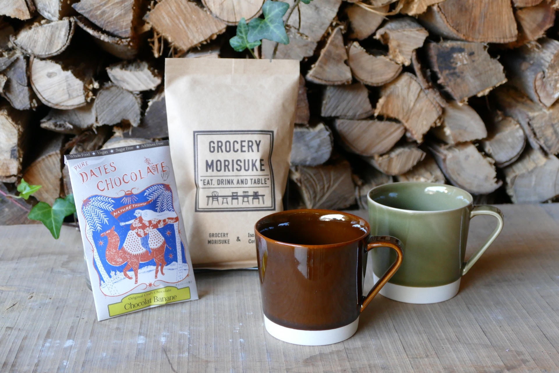 coffee +  mug set〈pair〉