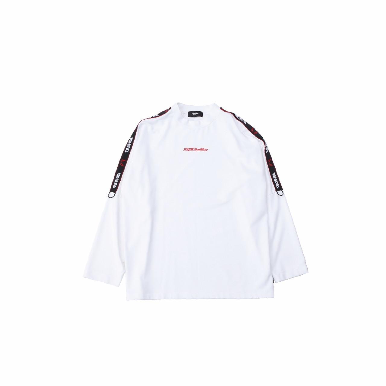 MYne × BADBOY L/S T-shirt / WHITE - 画像1