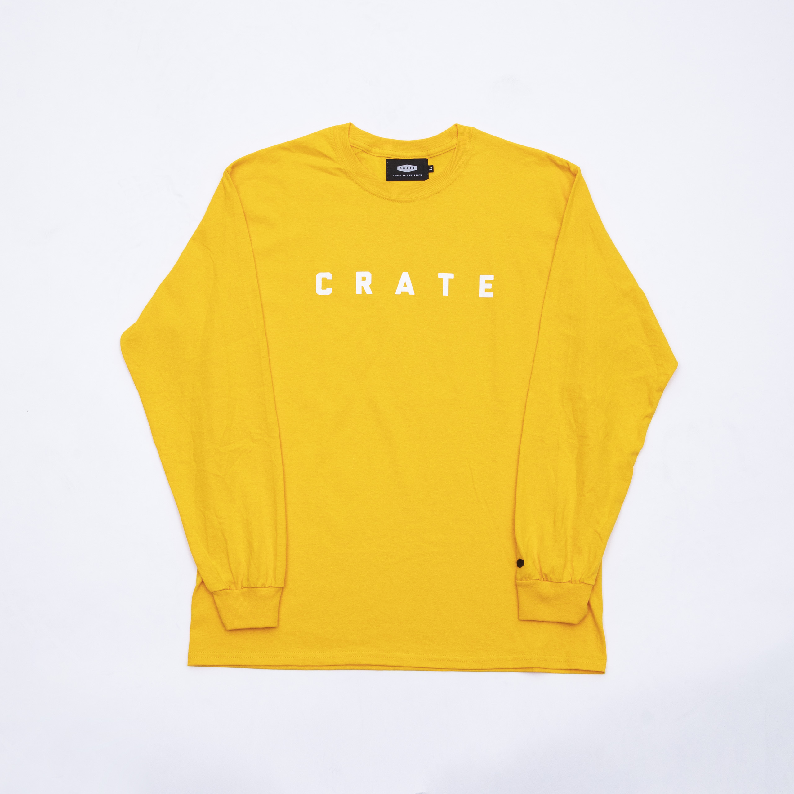 Crate Simple Logo L/S Tee Yellow