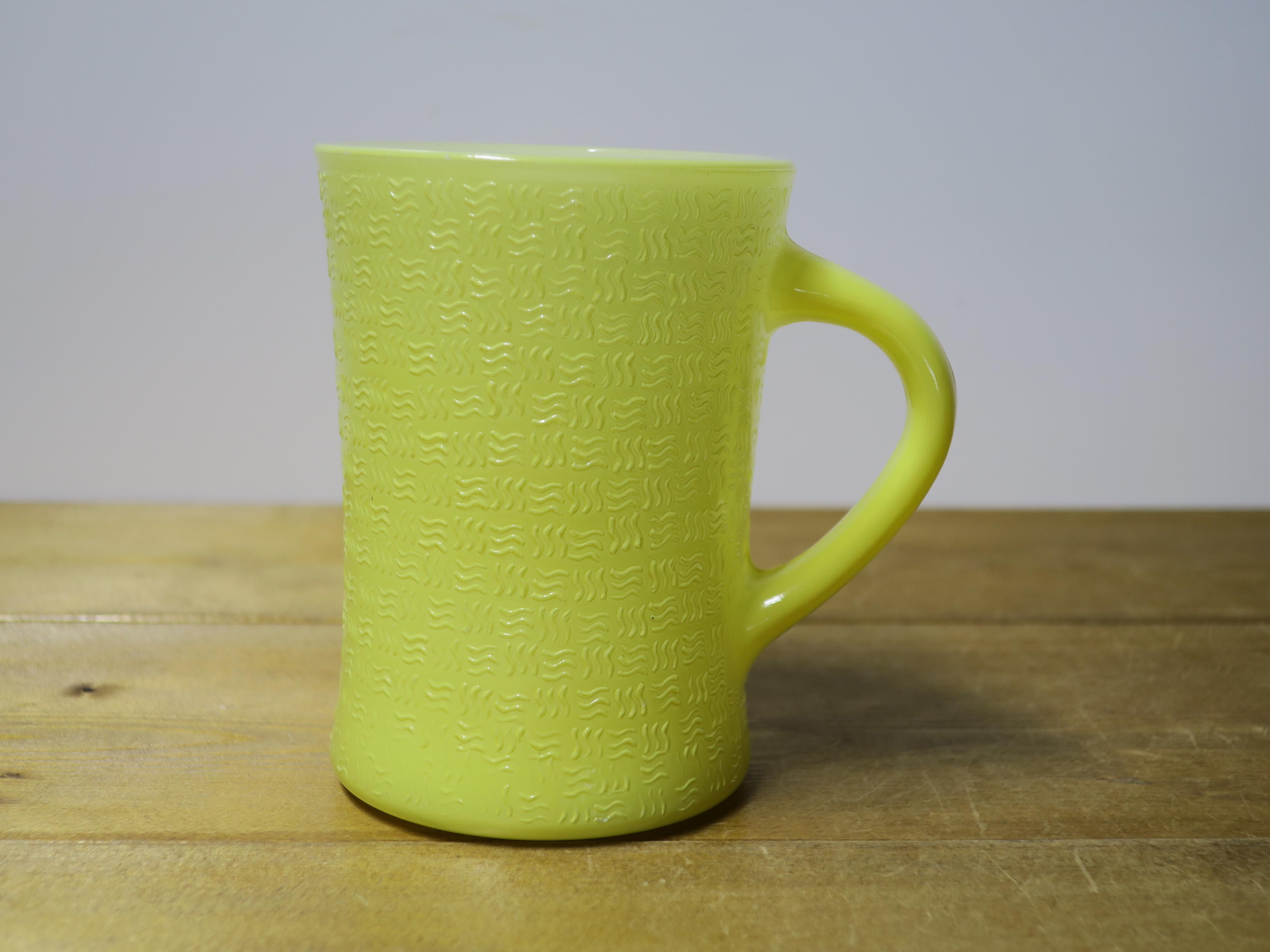 Glasbake バスケットウイーブマグ レモン
