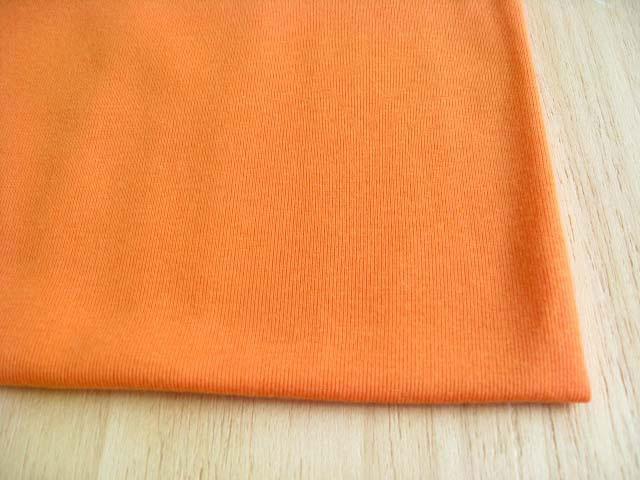 J&B定番 綿コーマ糸フライスニット オレンジシャーベット #17 NTM-2456