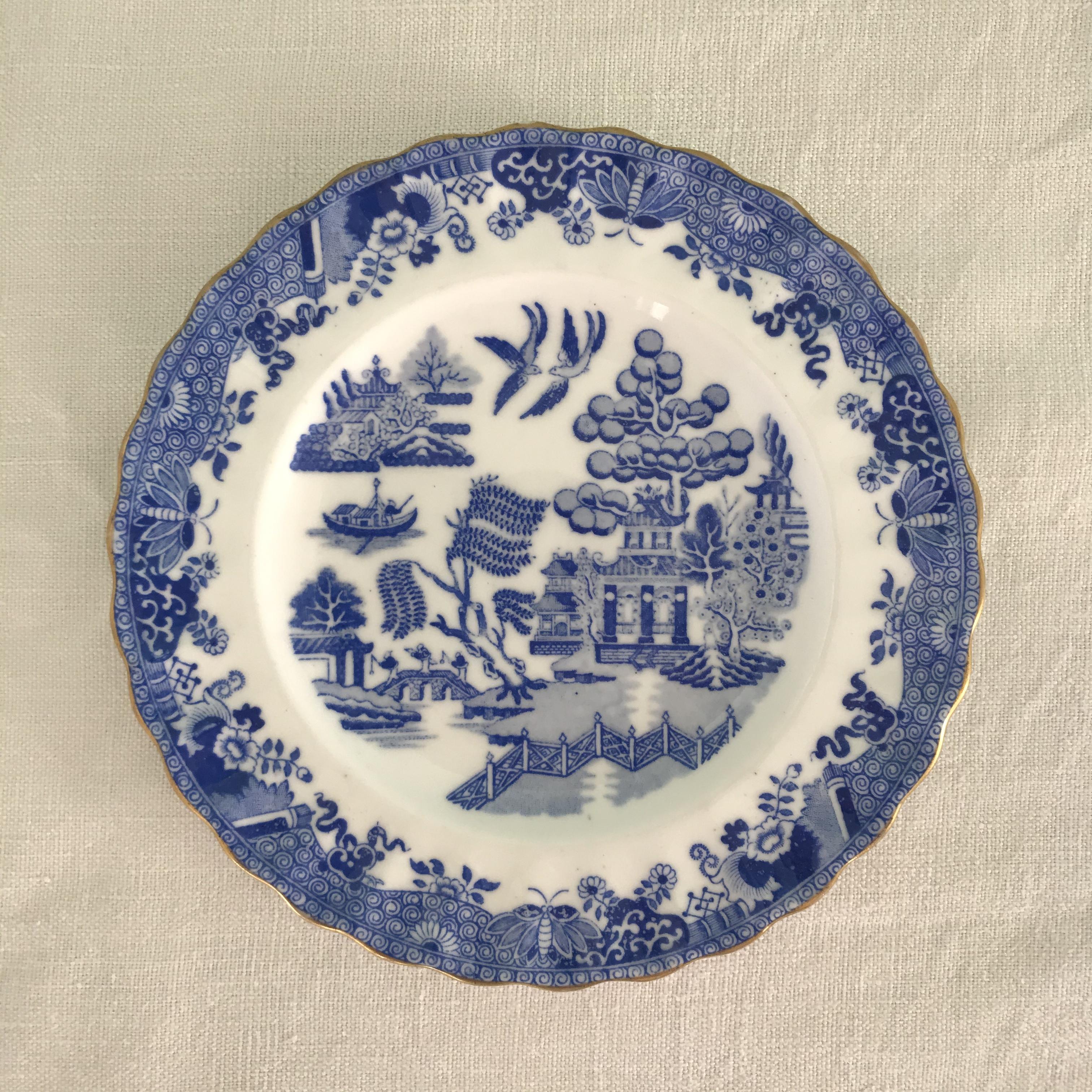 1888年 ウィロー柄のケーキ皿