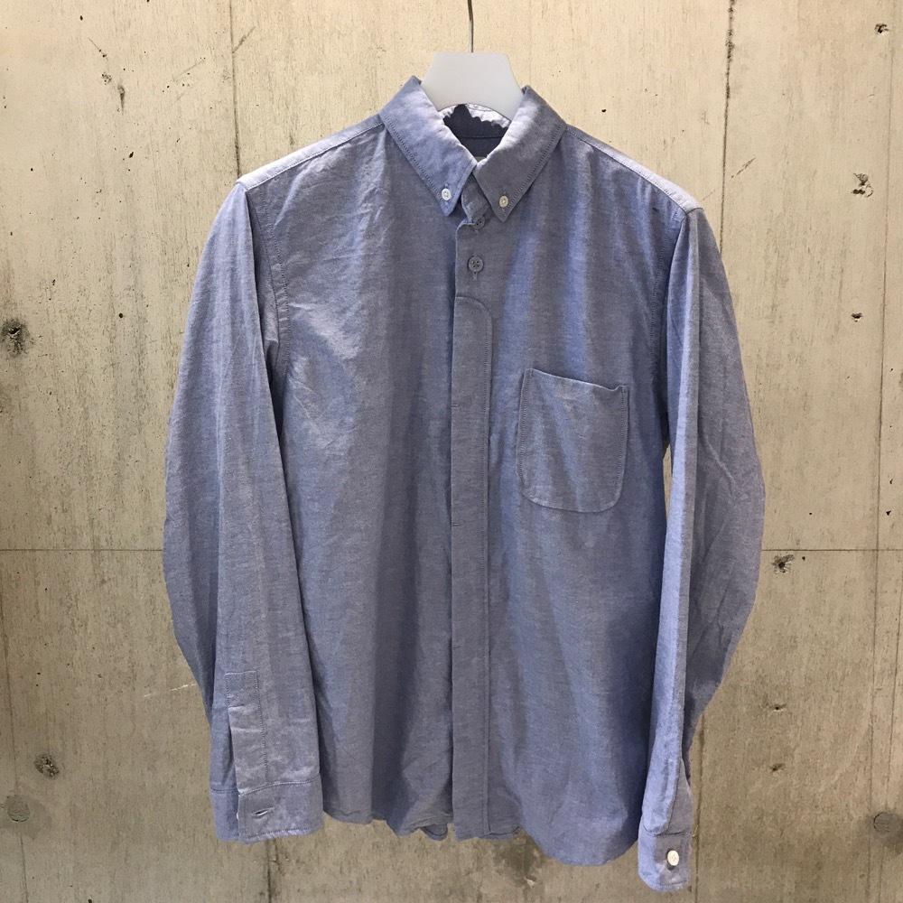 nisica ボタンダウンシャツ BLUE