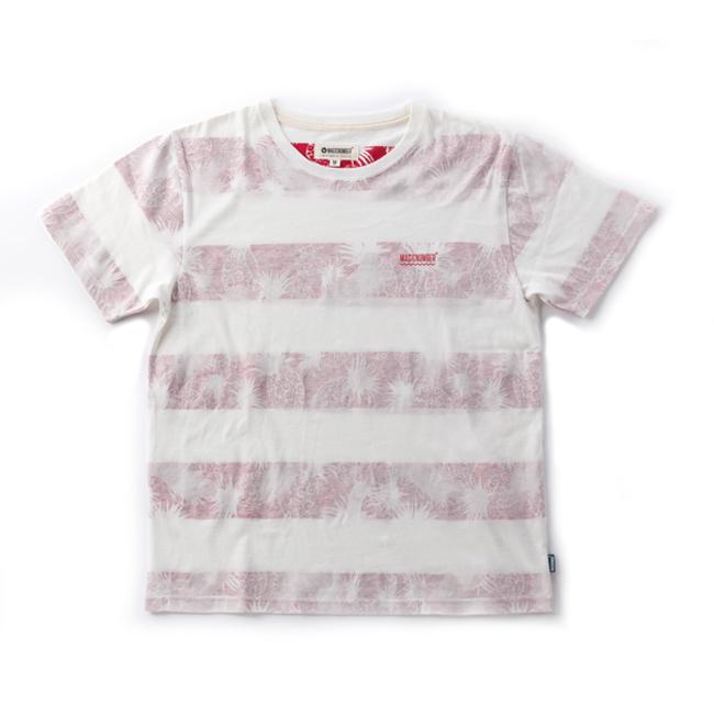 MAGIC NUMBER インサイドプリント ボーダー Tシャツ レッド