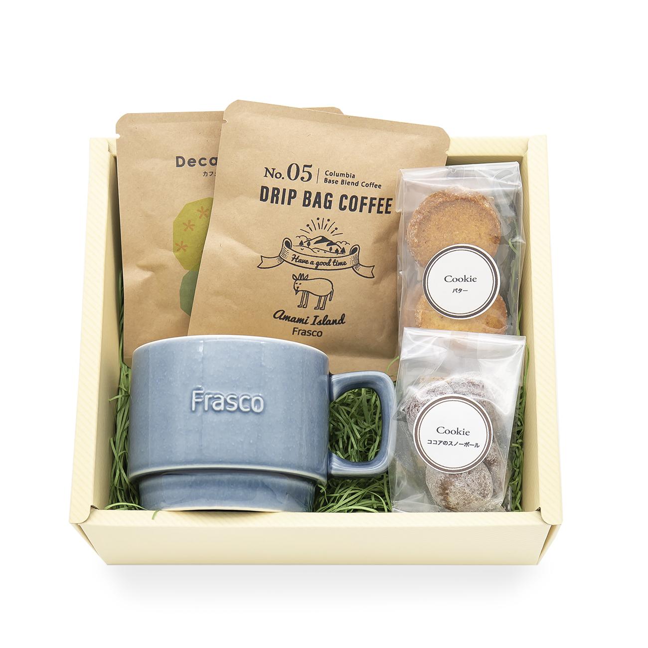 マグカップとコーヒー焼菓子のセット gift-H