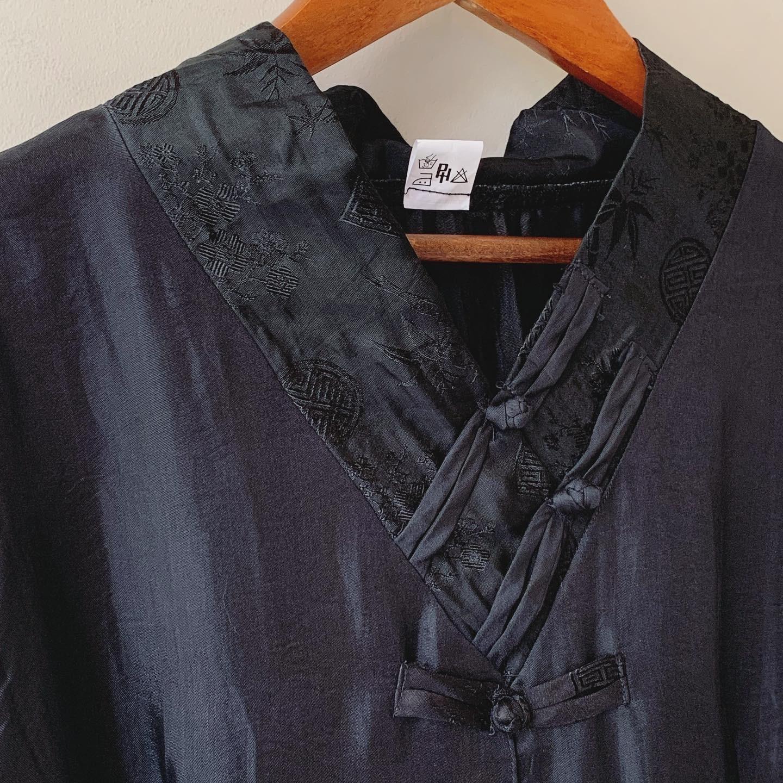 vintage china design silk tops