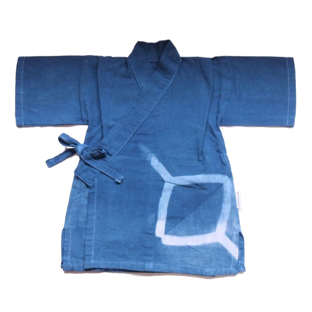 甚平(藍染 角)Sサイズ(送料無料)