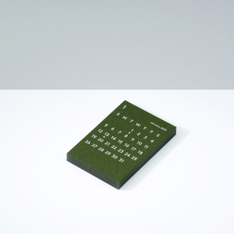 'CLARA' Calendar Refill 2020 Olive