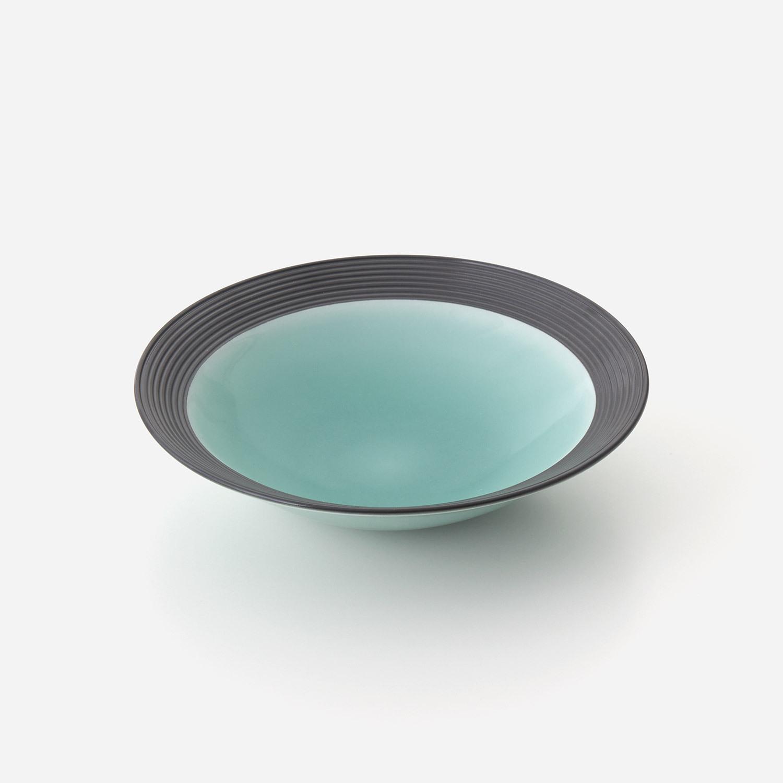 青磁黒彩 鉢