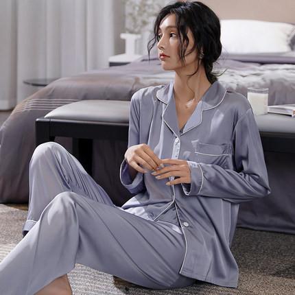 【パジャマ】快適柔らかゆったり上下セットパジャマ33041469