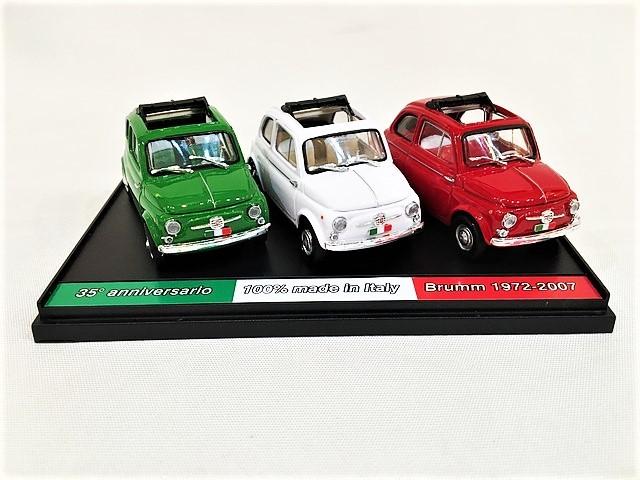 35°anniversario Brumm 100% made in italy TRIO 500 Fiat 500D 1/43【1セットのみ】【税込価格】