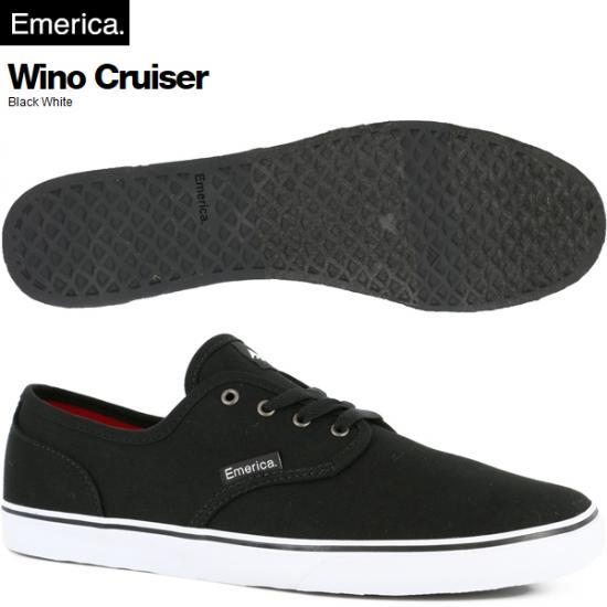 EMERICA エメリカ WINO CRUISER BLACK/WHITE CANVAS