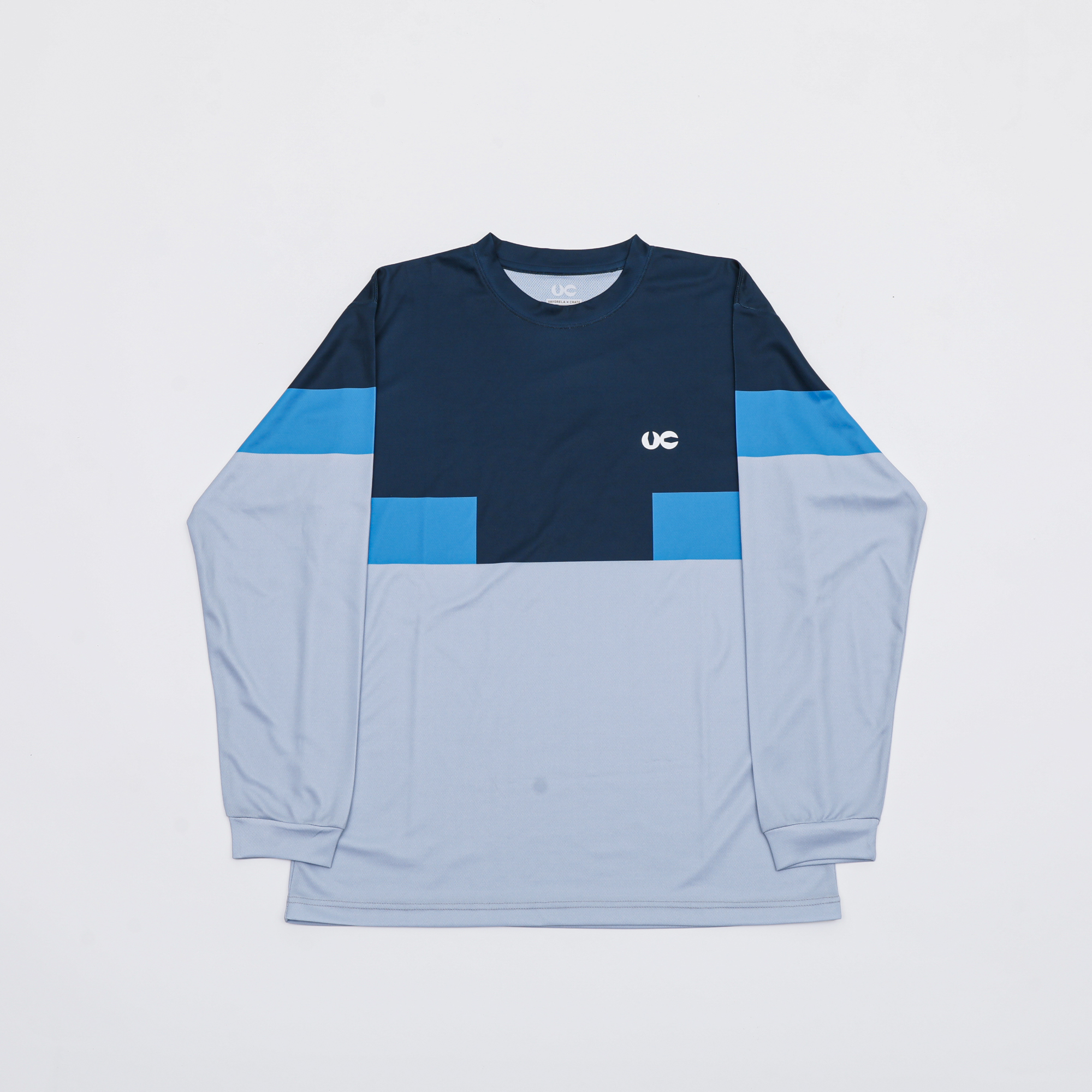 VC 3COLOR L/S TEE NVY/OC/GRY