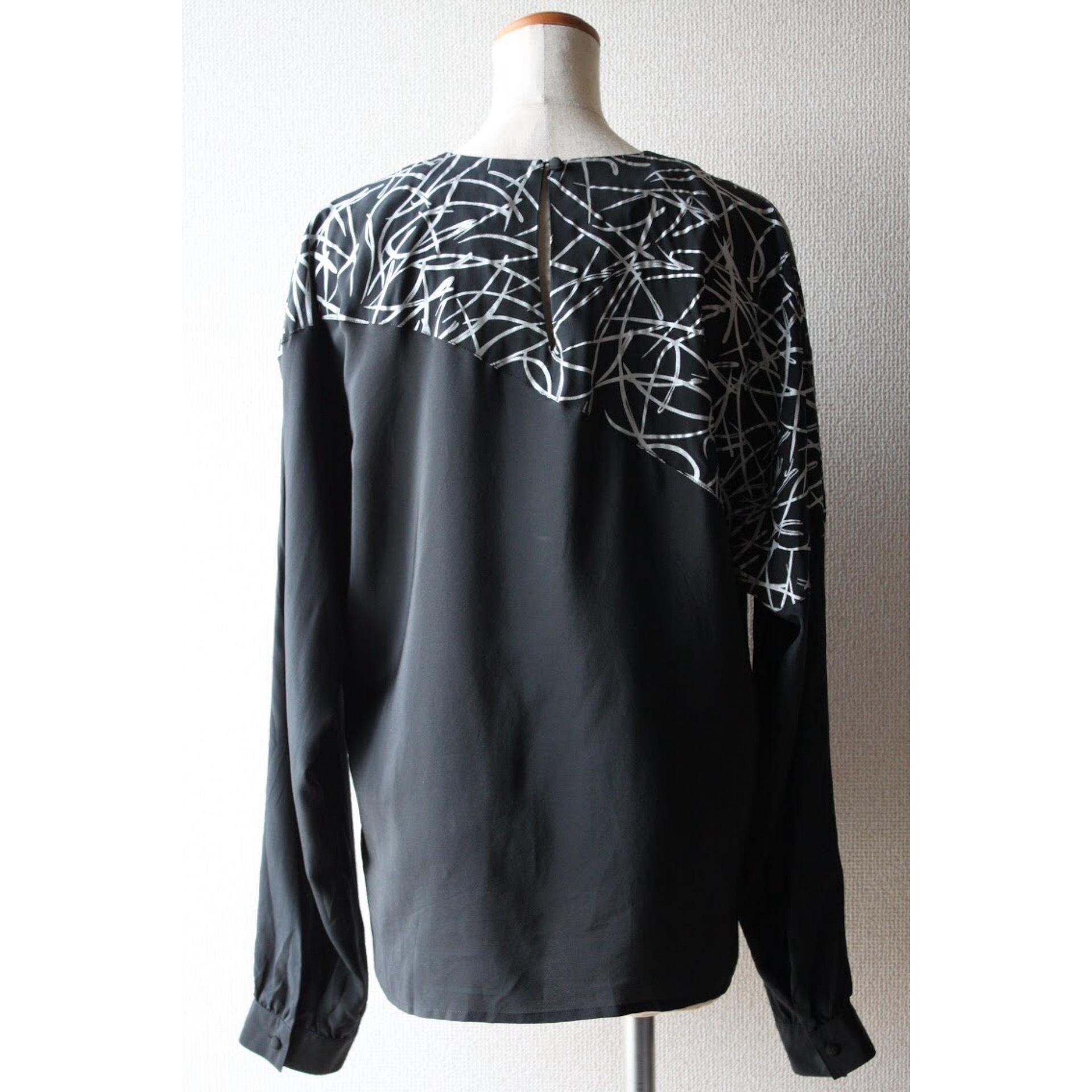 Vintage monotone silk tops