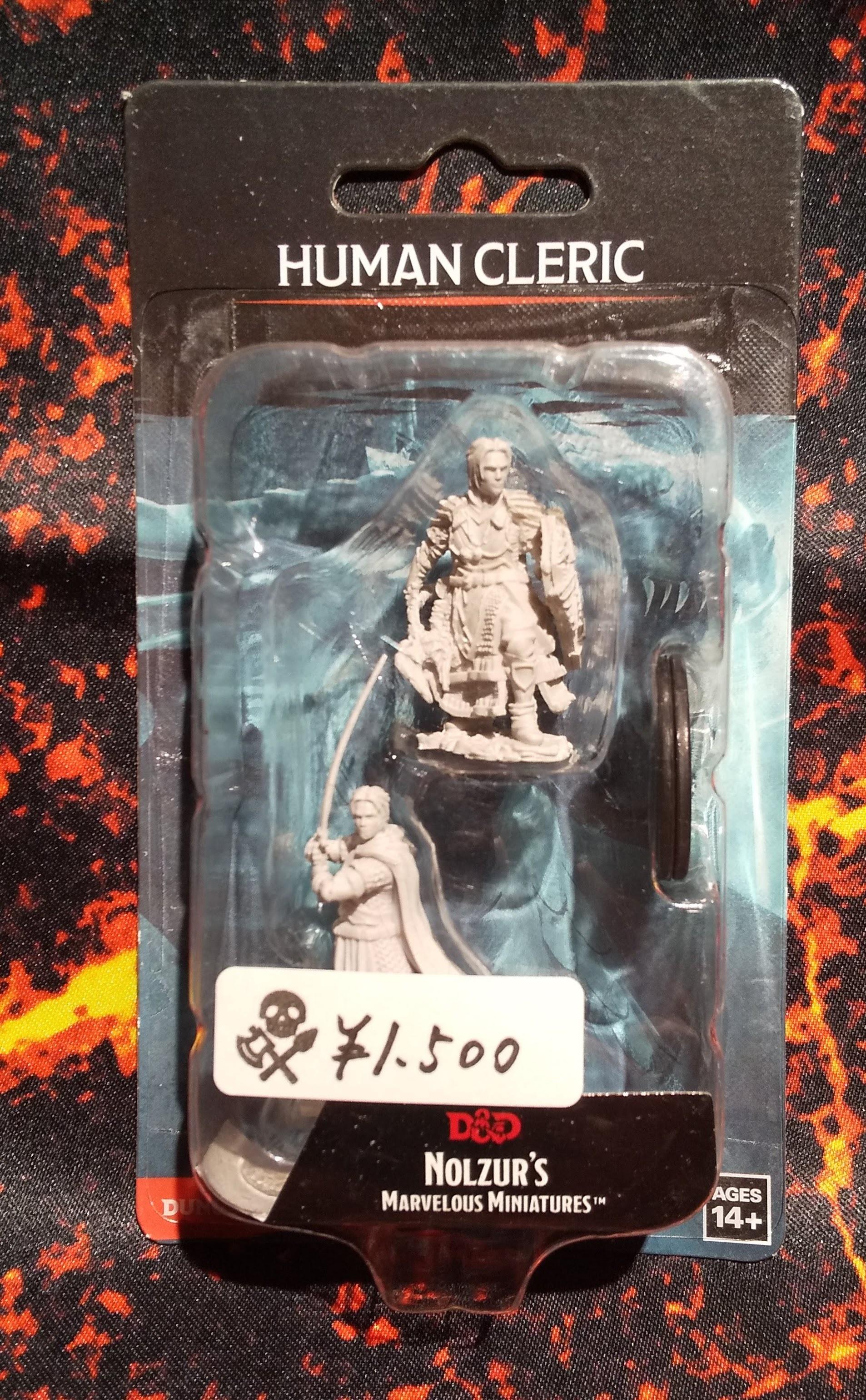 Male Human Cleric(D&Dオフィシャルミニチュア「Nolzur's Marvelous Unpainted Miniatures」シリーズ)