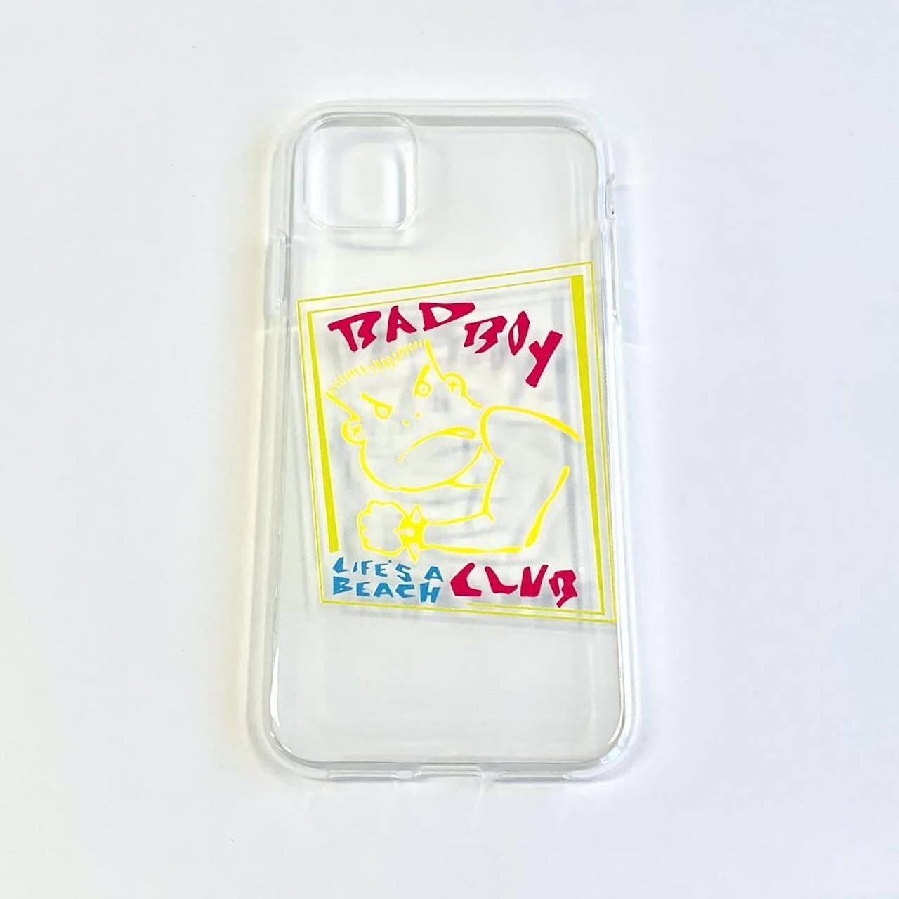 IPhone11専用ケース【BAD BOY CLUB】クリア