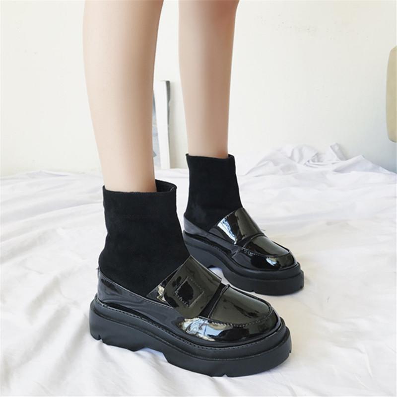 【shoes】カジュアルソリッドカラーPUブーツ14325130