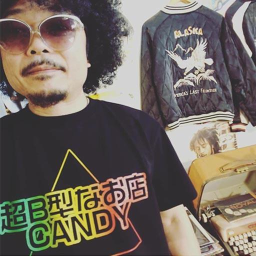超B型なお店CANDY Tシャツ ラスタカラー【ピラミッドパワー付き】