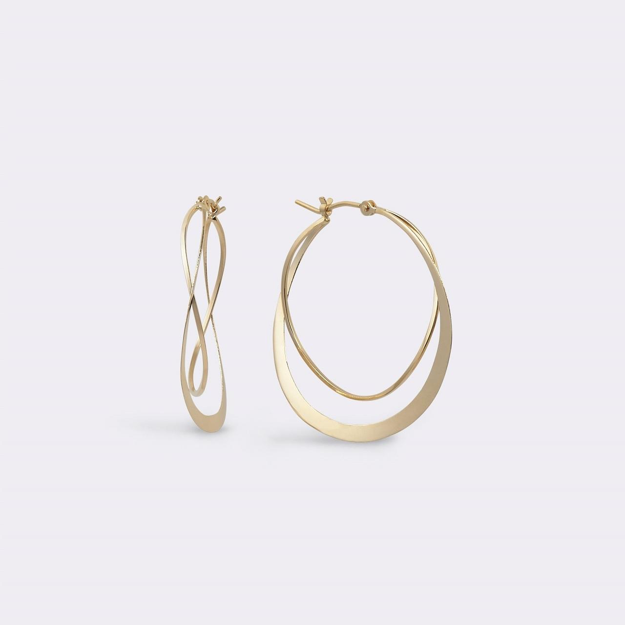 Twist Hoop pierce K18YG(ツイストフープピアス K18イエローゴールド)