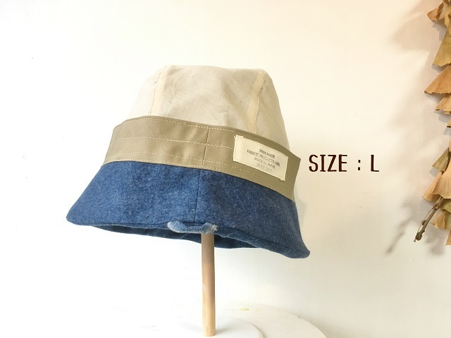 HELMA HAT | FLANNEL BLUE DENIM  SIZE【S , M , L】