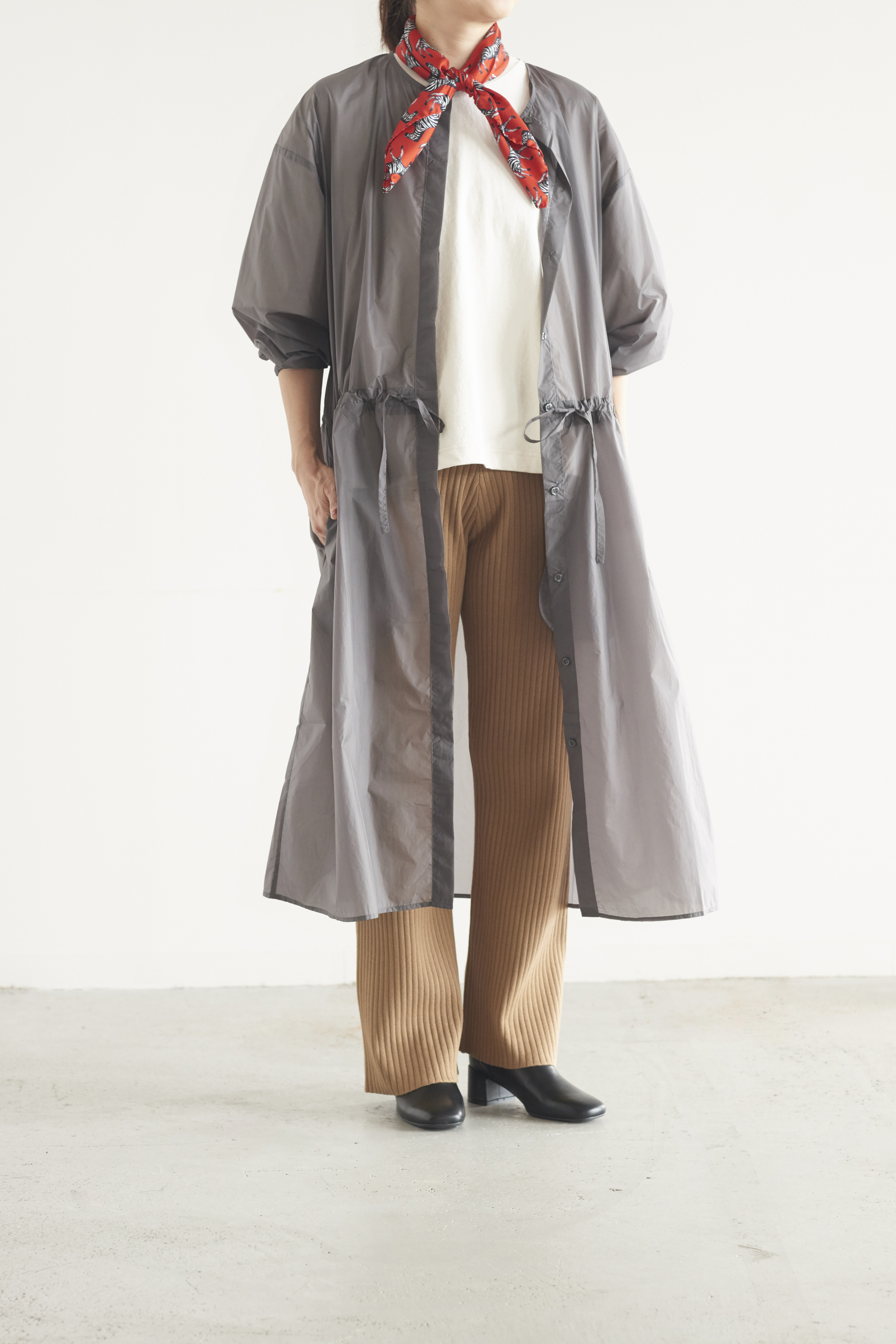 HONNETE DRAWSTRING LONG SHIRTS