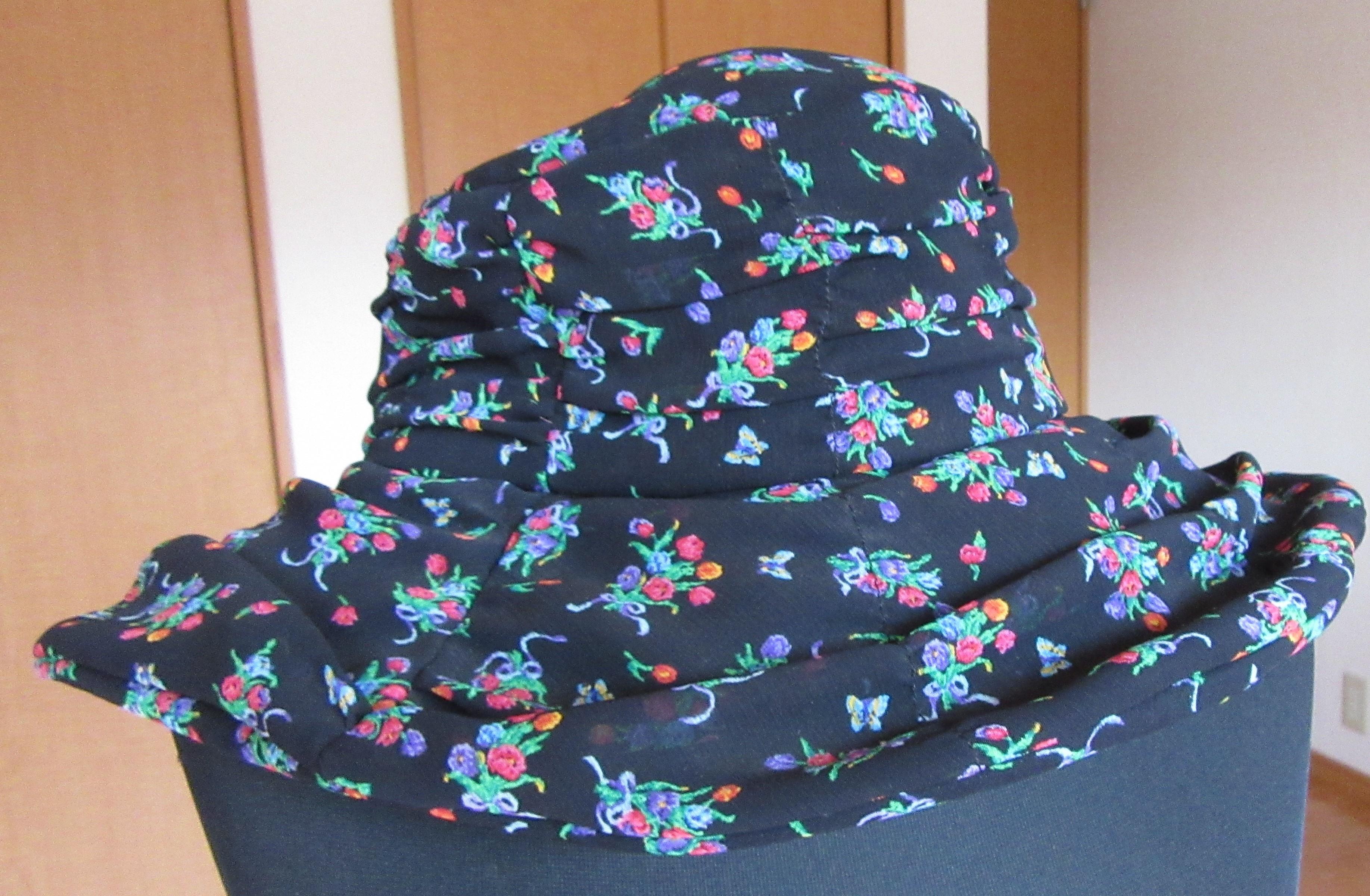 帽子 花柄 新品