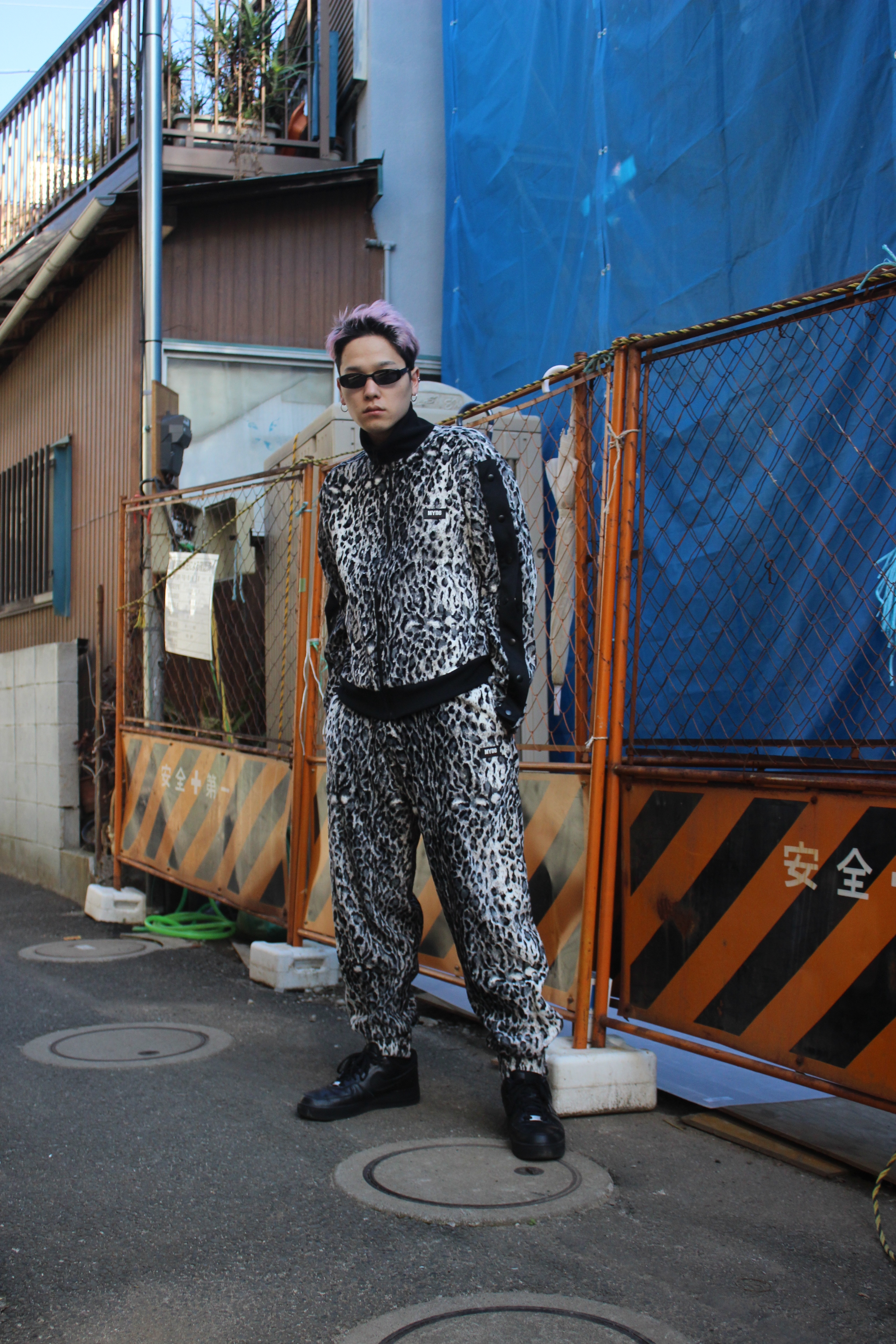LEOPARD TRACK PANTS / BLACK - 画像5