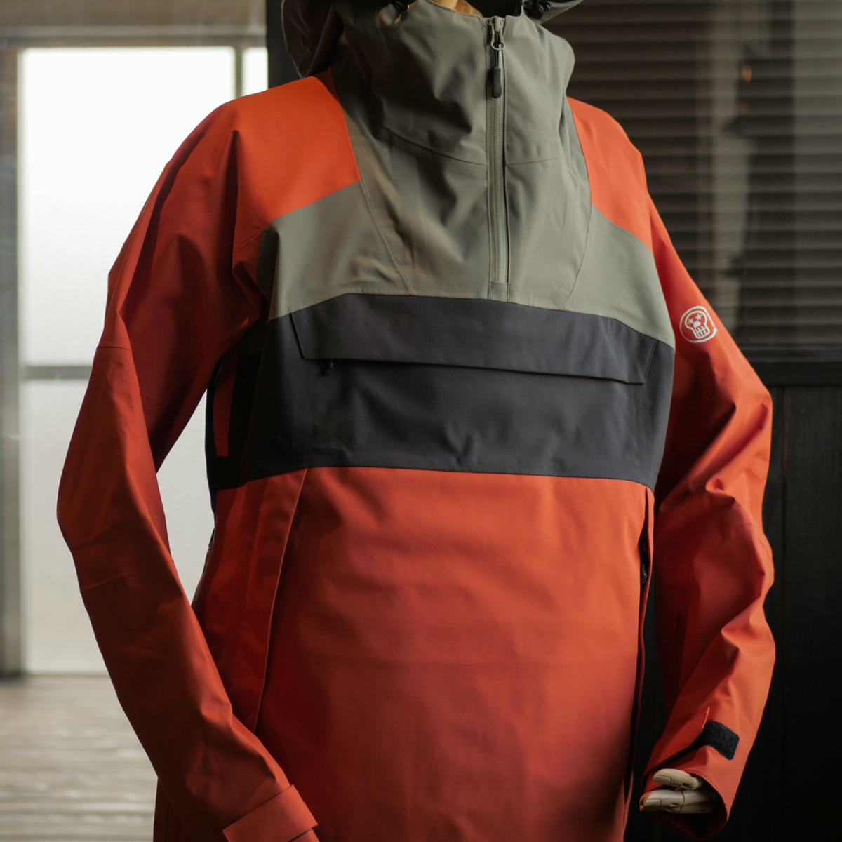 UNFUDGE SNOW WEAR 2018 / SMOKE ANORAK / ORANGE / M