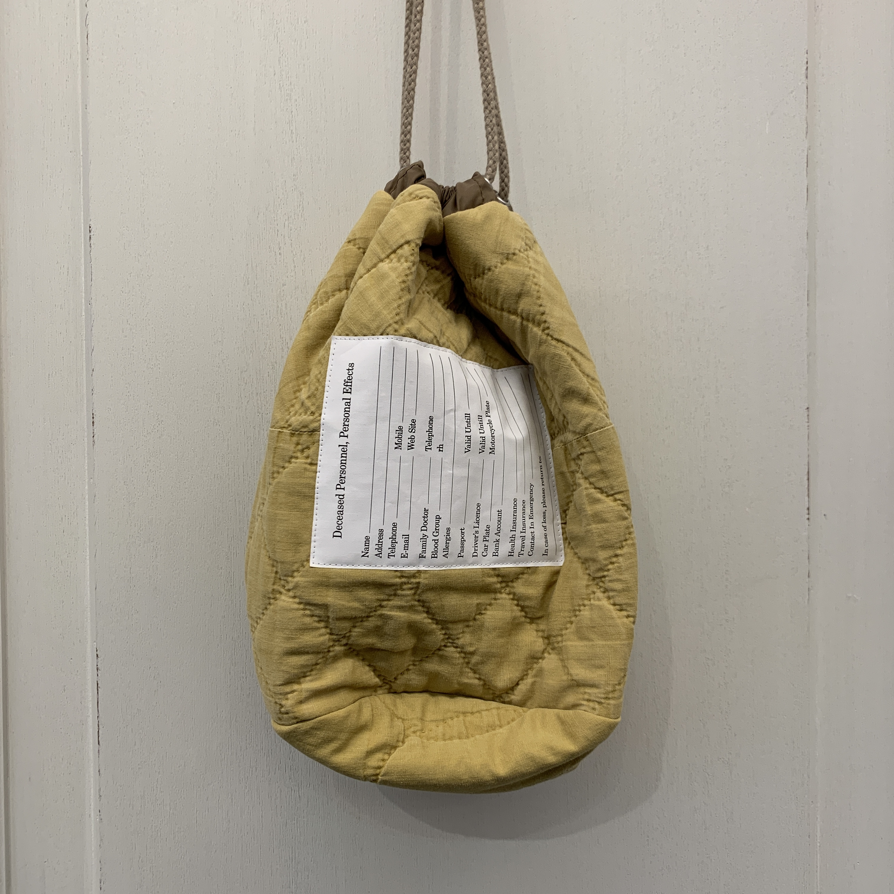 sw.0187 personal effects bag.