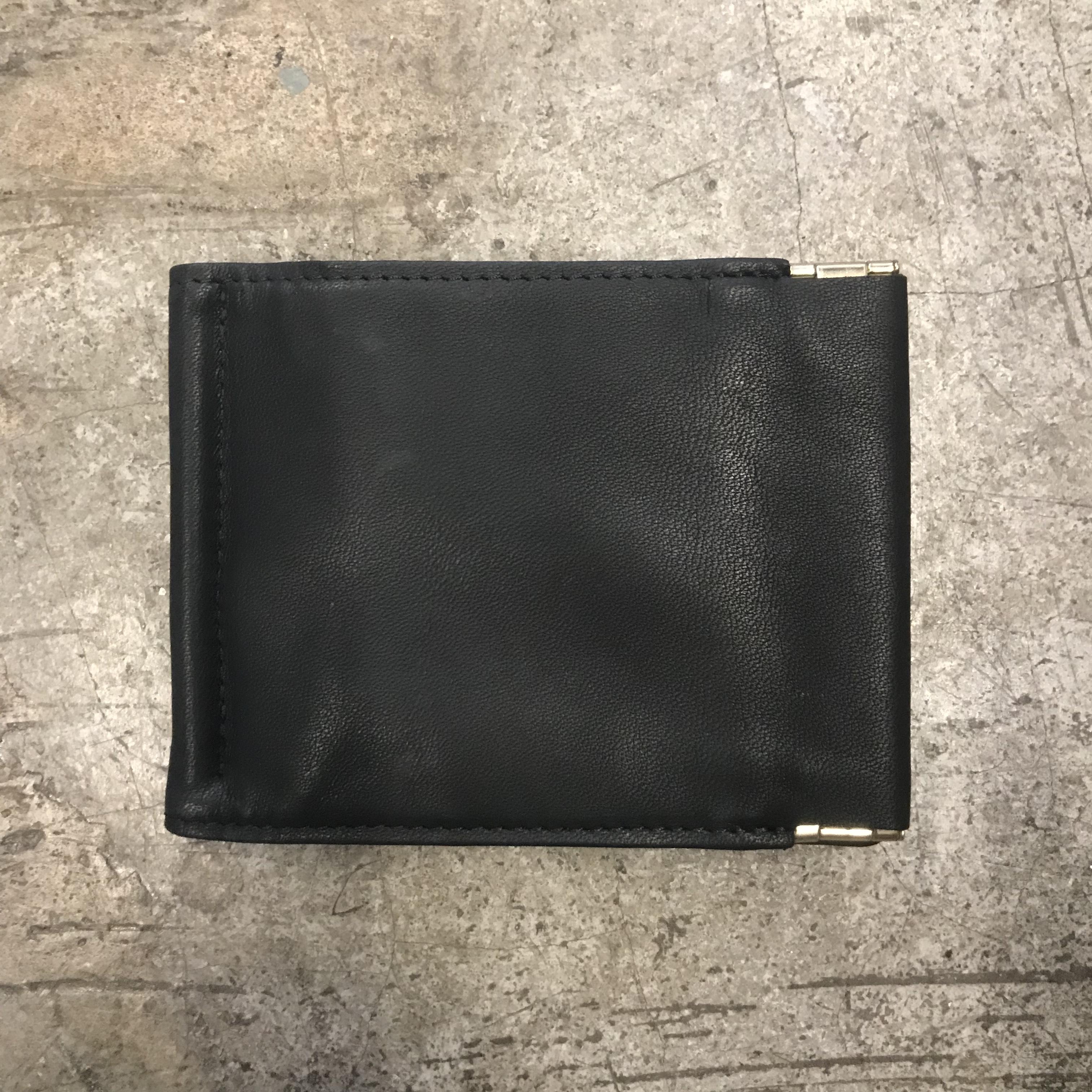 Leather Money Clip/OFF BLACK