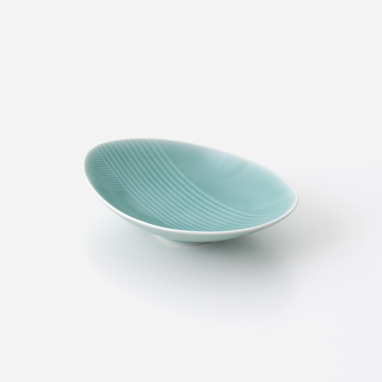 青磁光彩 楕円小鉢