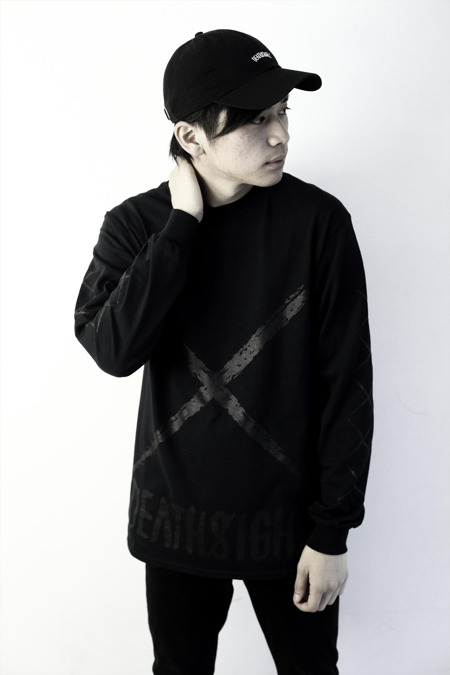 xxx L/S TEES BLACK x BLACK - 画像5
