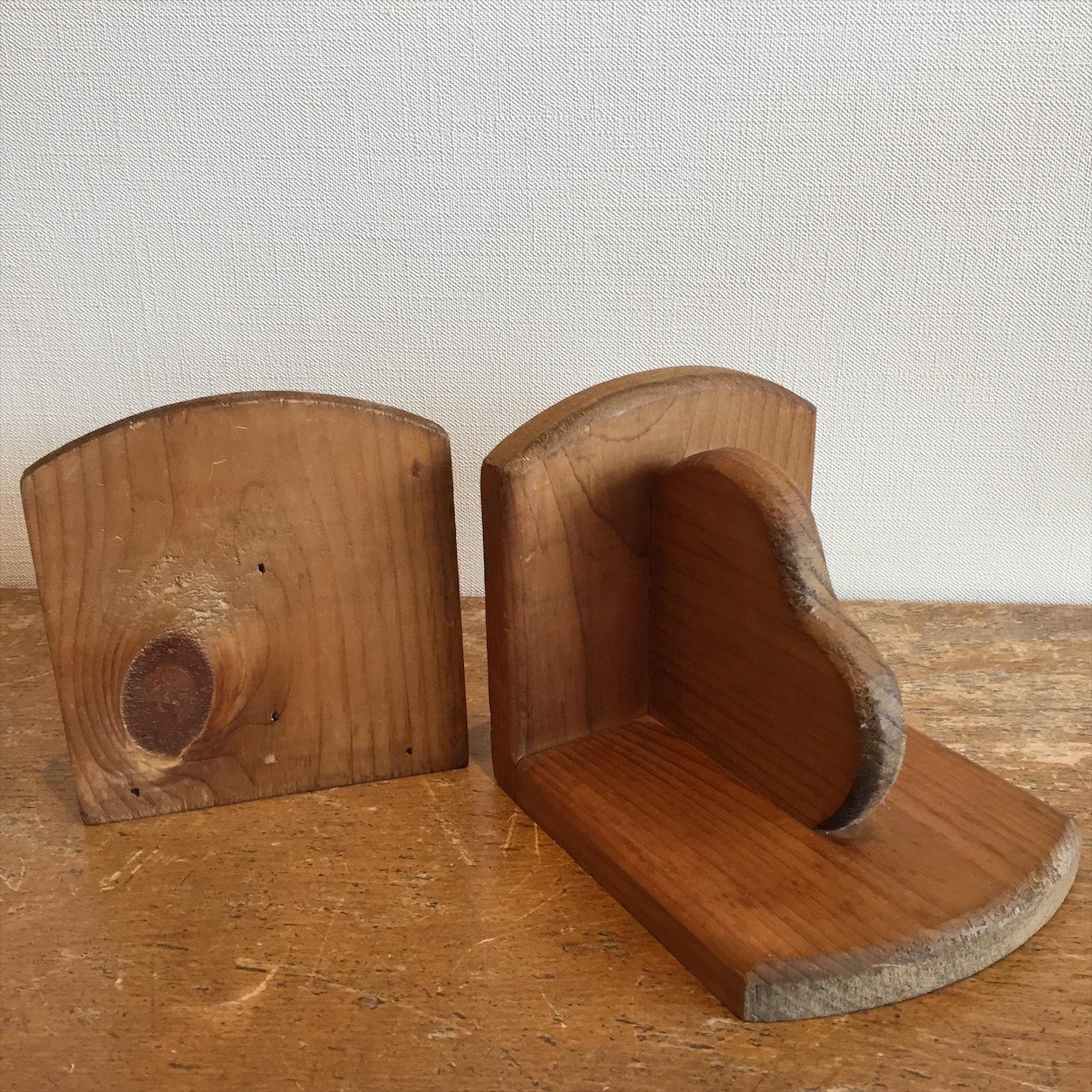 木製ブックエンド