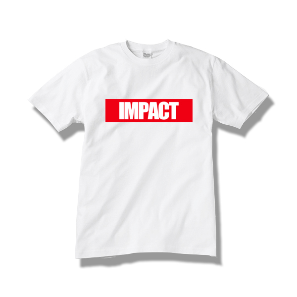 Tシャツ IMPACT / white-red