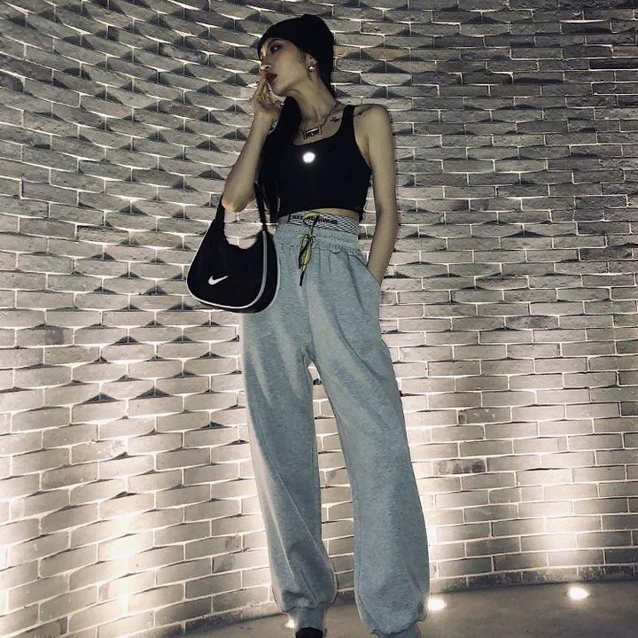 waist check design loose pants