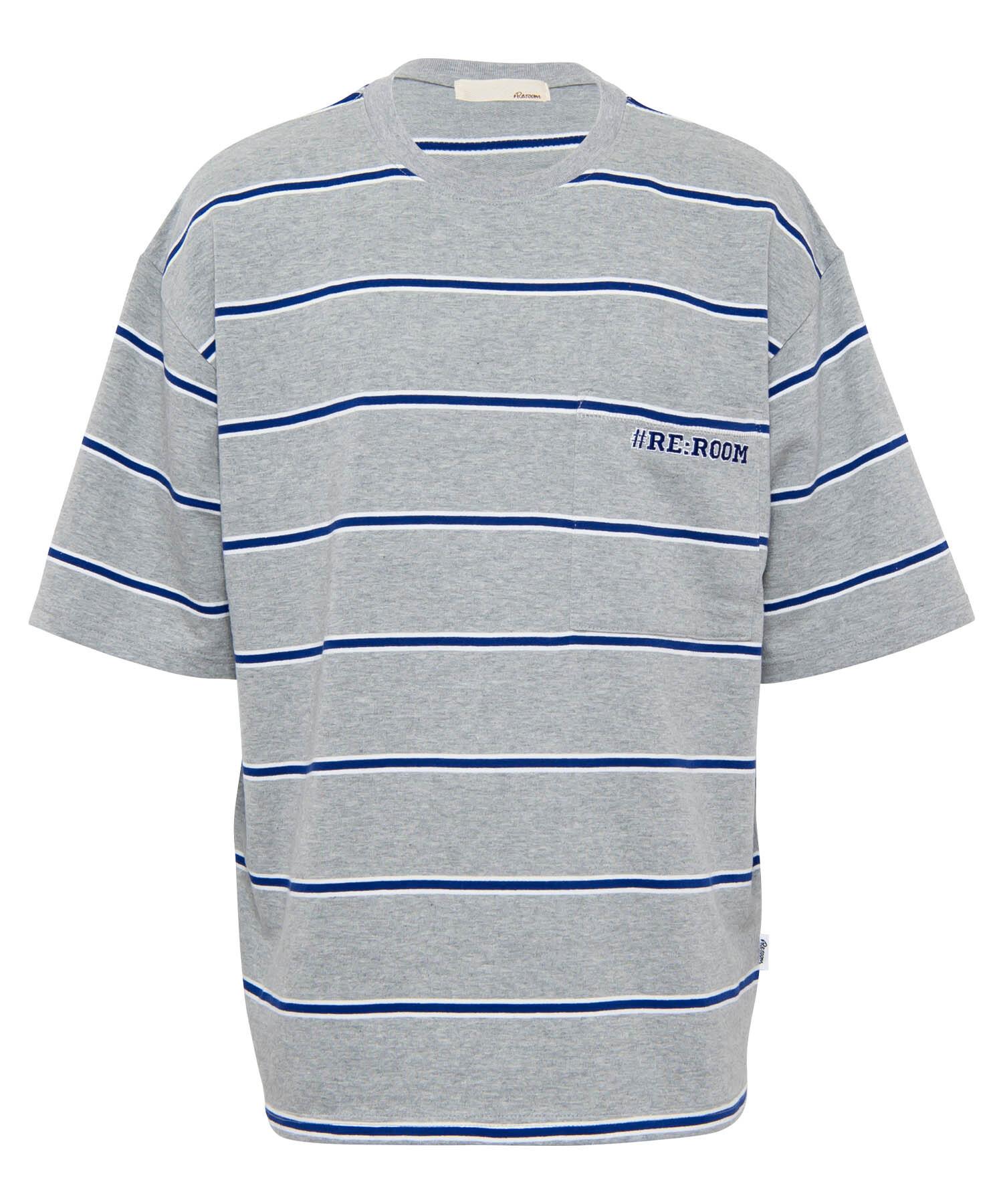 BORDER SWEAT BIG T-shirt[REC381]
