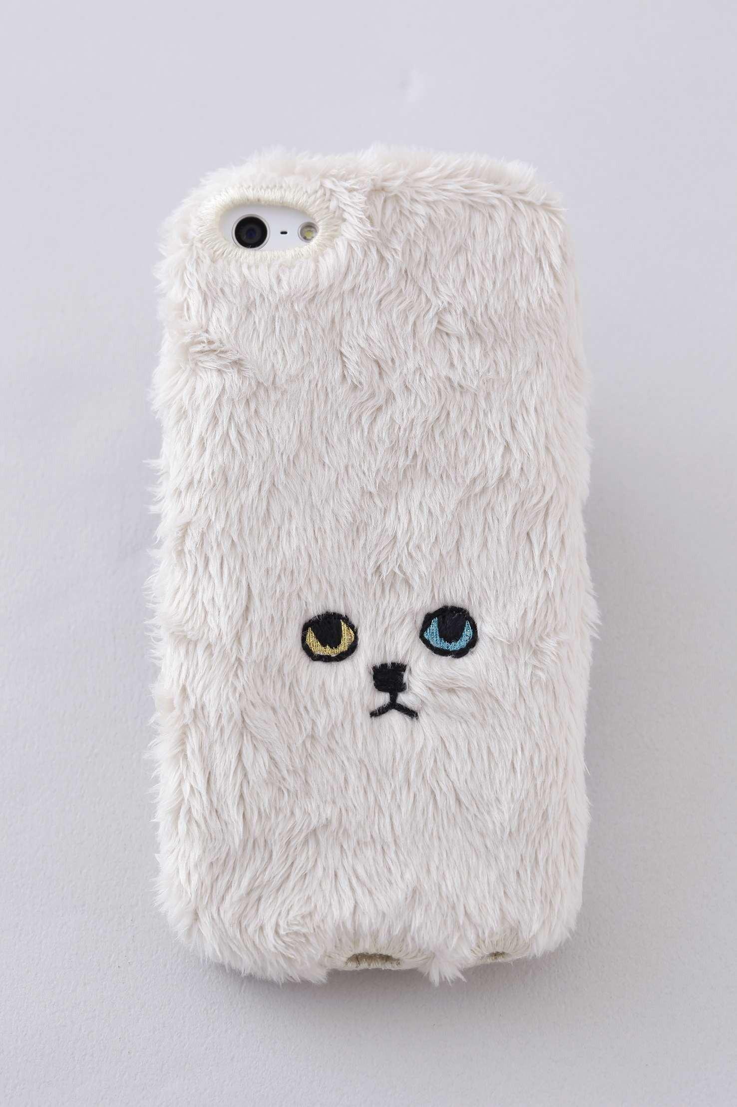 ネコiPhone5/5c/5sカバー 【ベージュ】