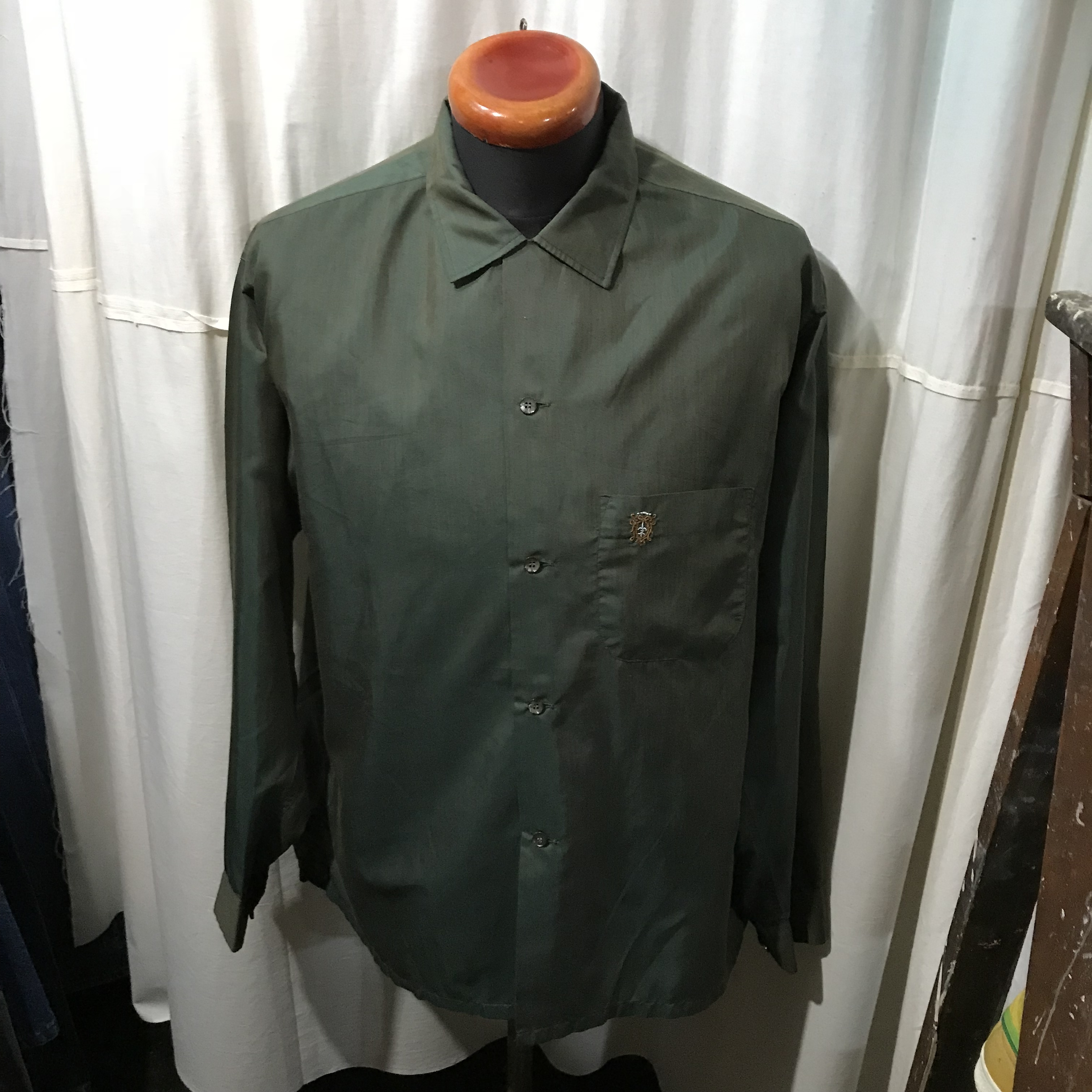 ~60's vintage Penneys TOWNCRAFT ぺニーズ タウンクラフト ボックスシルエットシャツ メンズL~XL