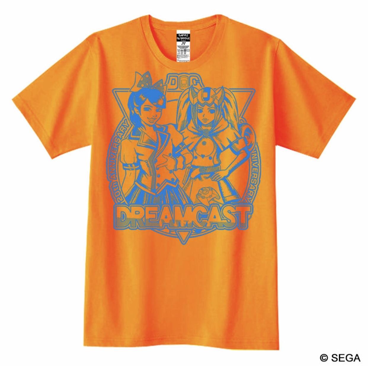 【限定30着】ドリームキャスト Real x Virtual Tシャツ -オレンジ- / GAMES GLORIOUS