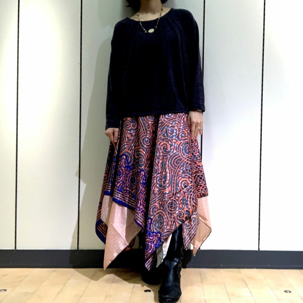 dsz-008 【新価格】シルクサリーギザスカート