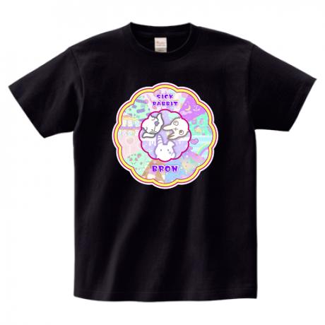 ファンシーラビットTシャツ*黒