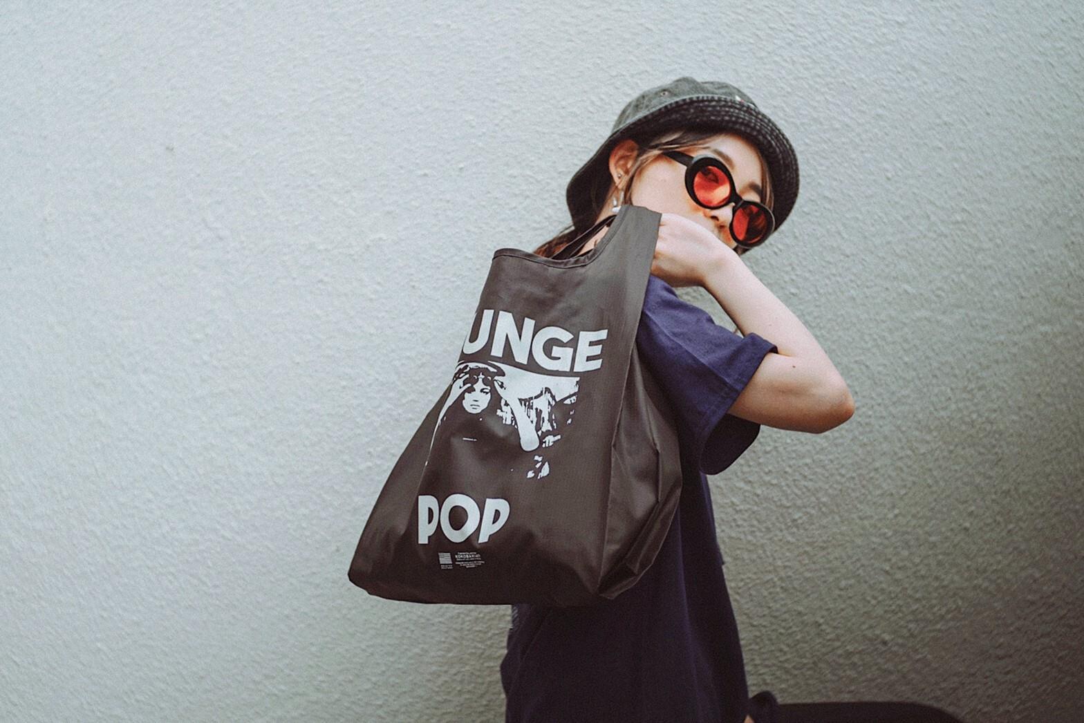 GRUNGE POP エコバッグ ブラック