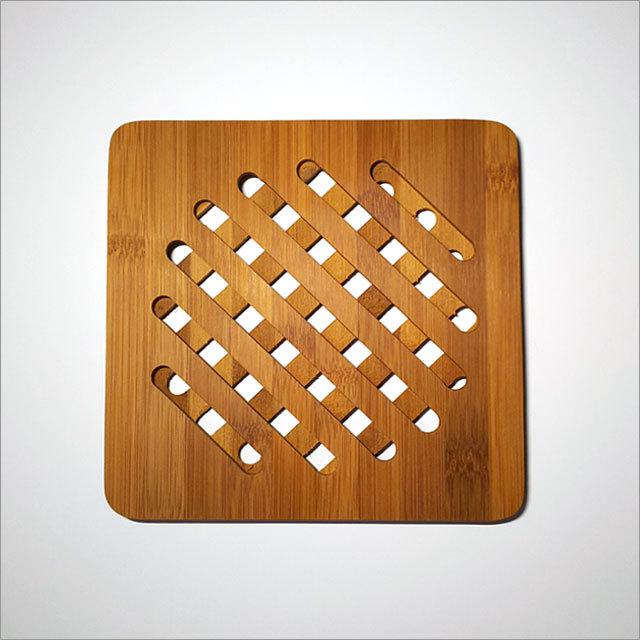 天然竹製 鍋敷き(しかく)