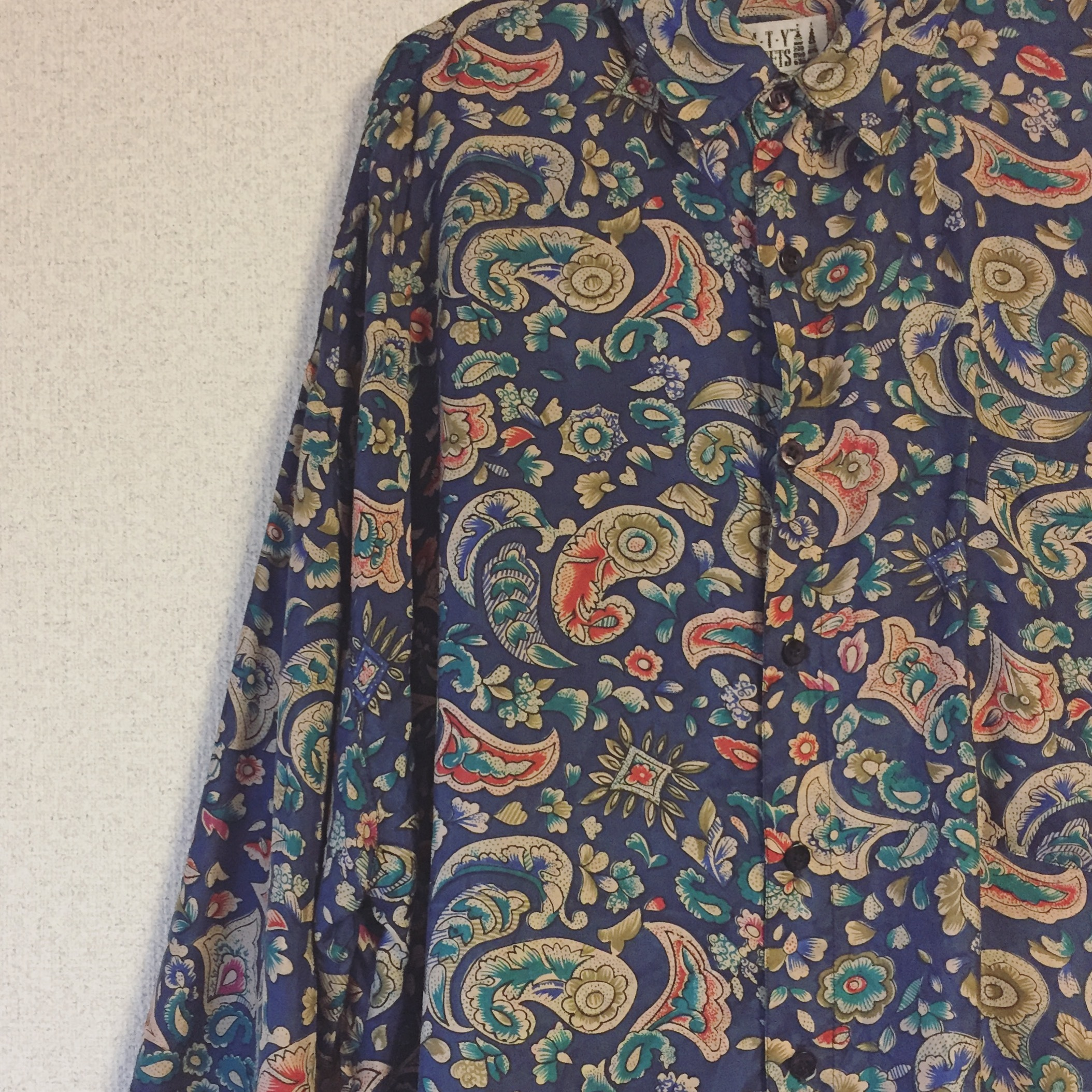 vintage silk design shirts