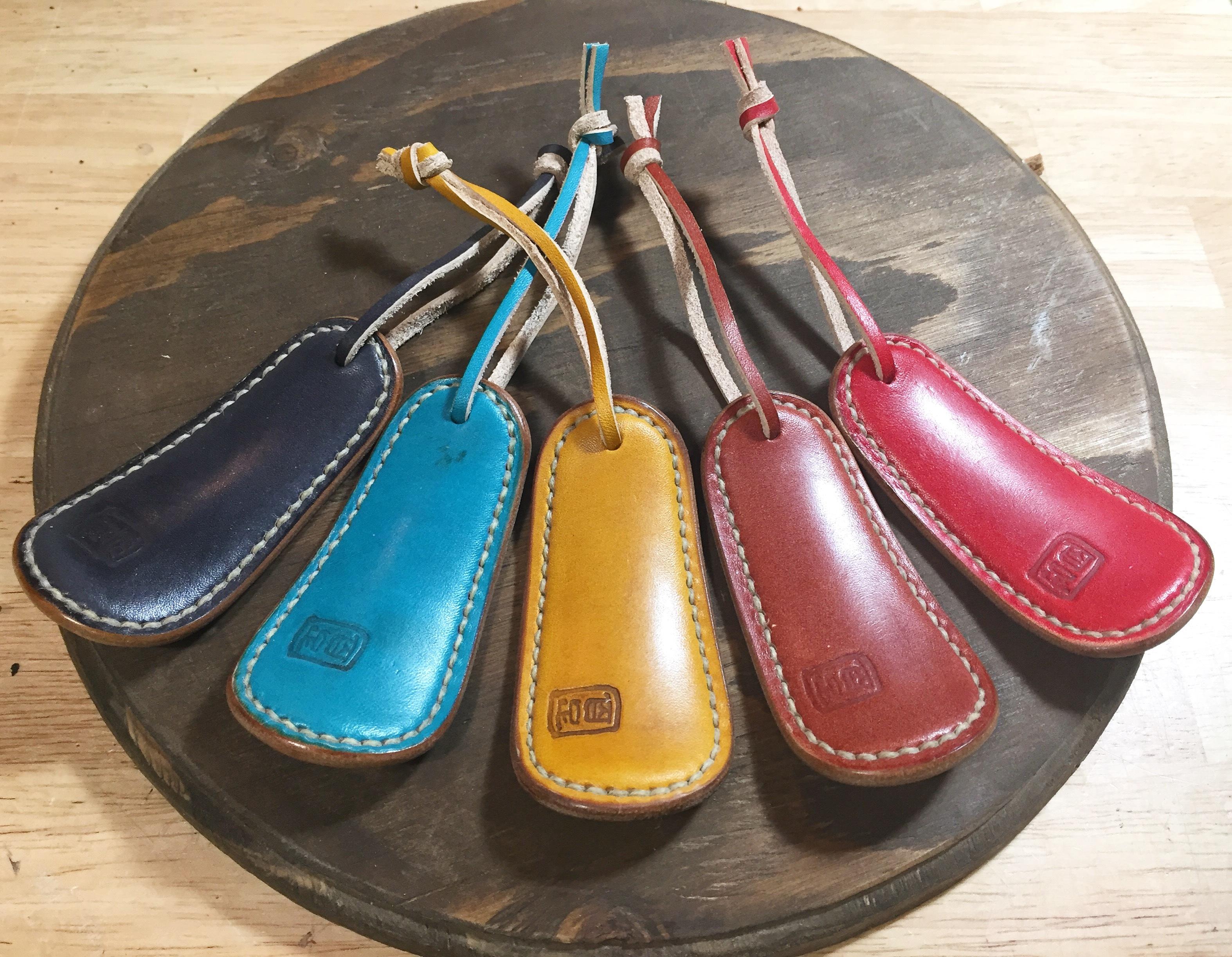 数量限定 手染め蜜蝋革の靴ベラ