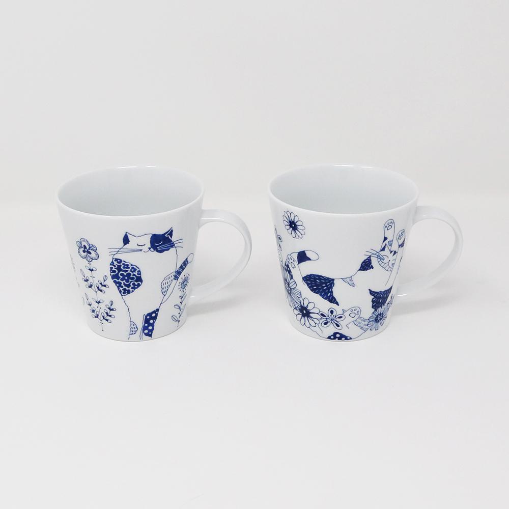 猫マグカップ(ロンロンとミュウ)ペア