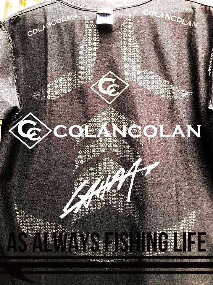 【入荷しました!少量在庫ございます!】【COLANxCOLANコラボ マイナスイオンTEE】AS ALWAYS FISHING LIFE TEE LAHM(エルエーエイチエム)