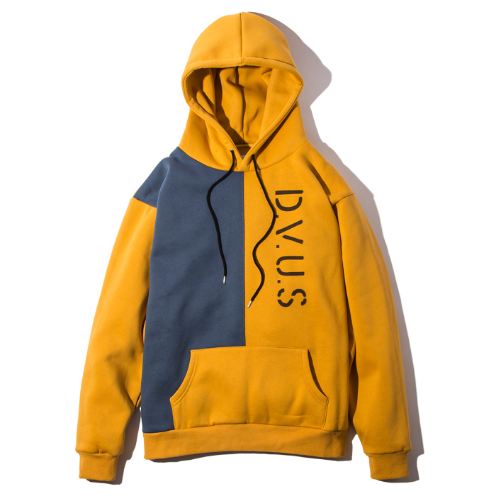 Deviluse(デビルユース) | Division Pullover Hooded (Mustard/Navy)