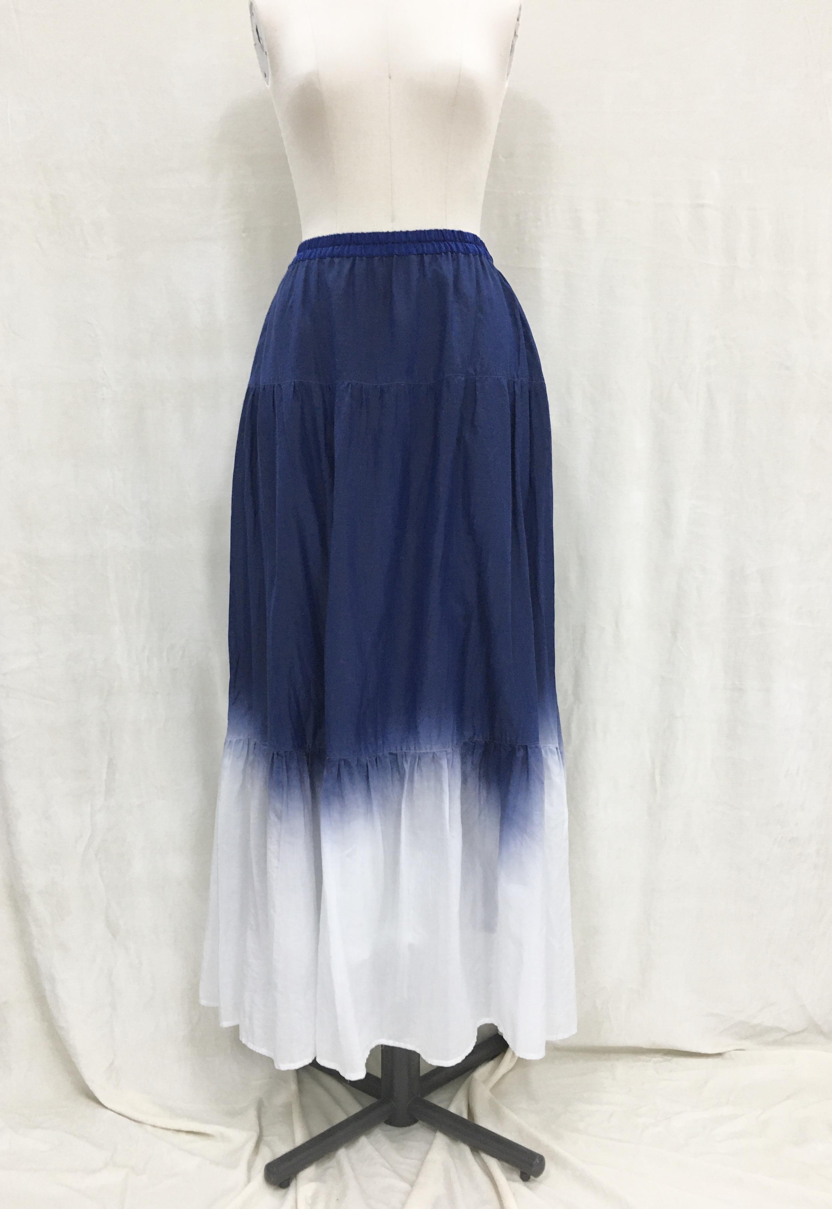 ティアードスカート NAVY〜段染め〜
